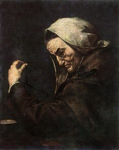 "Jusepe De Ribera  ""An Old Money-Lender""  (1638) Museo del Prado, Madrid"