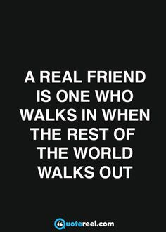 How to recognize a real friend