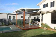 Patio Roof Extension Ideas, Outdoor Areas, Outdoor Structures, Patio Enclosures, Outdoor Blinds, Dream Beach Houses, Outdoor Living, Outdoor Decor, House Roof