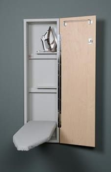 Ironing Board White Wall Mounted Ironing Storage Cabinet With Mirror Uk In 2020 Wall Mounted Ironing Board Mounted Ironing Boards Iron Storage