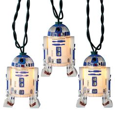 R2-D2 Lights: 10 indoor/outdoor lights, $24. #Star_Wars #R2_D2_Lights
