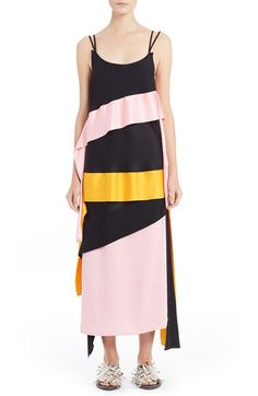 MSGM Ribbon Trim Maxi Dress. #msgm #cloth #