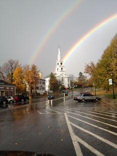 Middlebury,Vermont Double Rainbow