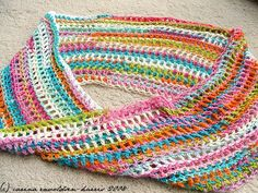 crochet scarf colorful