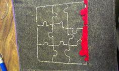 Puzzle quiet book page