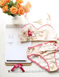 *** PLEASE NOTE! This listing is for a SEWING PATTERN, not actual lingerie. If you would like me to make you some lingerie, please visit my lingerie shop on Etsy! https://www.etsy.com/shop/ohhhlulu ***  This Pattern Bundle will allow you to create your own vintage style lingerie sets, using woven fabrics like cotton floral prints, satin, or flannel (as shown in the pictures!). You will receive TWO PDF Sewing Patterns with this purchase.  *The Bambi* The Bambi Soft Bra is a...