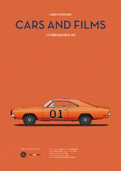 Poster of The Dukes of Hazzard car. Illustration Jesús Prudencio. Cars And Films