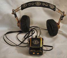 Steampunk Bracer with Headphones