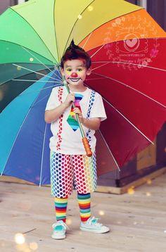 Carnaval criança palhaço