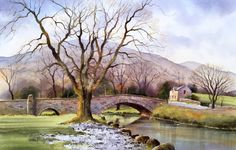 Geoff Kersey walks you through this gorgeous watercolour scene: Rydal Bridge now available on ArtTutor