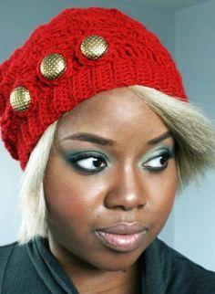 Vintage Red Crochet Beret. Hmm, do I spot another DIY??? :-)