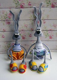 Mesmerizing Crochet an Amigurumi Rabbit Ideas. Lovely Crochet an Amigurumi Rabbit Ideas. Crochet Amigurumi Free Patterns, Crochet Animal Patterns, Free Crochet, Knitting Patterns, Bunny Crochet, Crochet Dolls, Rabbit Crafts, Rabbit Toys, Knitted Animals