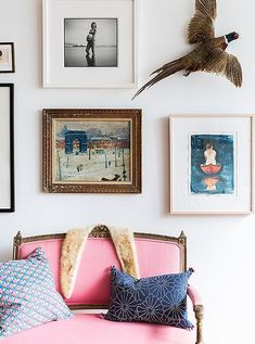 Illustrator and author Kate Schelter gives a tour of her New York City loft. Full of art, antiques, and good vibes, it's a lively space sure to inspire. Classic House, Classic Style, Illustrator, New York Loft, Room Decor, Wall Decor, Traditional Paintings, Love Home, Modern Spaces