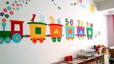 Classroom Wall Decor, Kindergarten Classroom Decor, Kindergarten Design, Classroom Walls, School Board Decoration, Class Decoration, School Decorations, Decoration Creche, Toddler Classroom