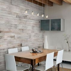 Image result for wood panel accent wall