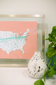 How to Make a Travel Map...free printable...