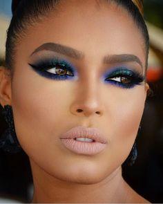 Discover more about makeup tips - Natural Makeup Blackgirl Gorgeous Makeup, Pretty Makeup, Love Makeup, Makeup Inspo, Makeup Inspiration, Makeup With Blue Dress, Simple Makeup, Hazel Eye Makeup, Eye Makeup Remover