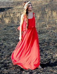 Madame de Rosa, Maxi vestido rojo