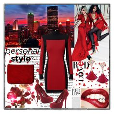 """Love red"" by emina136 ❤ liked on Polyvore featuring Balmain"