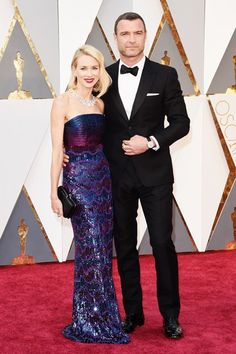 These 22 Cute Couples Ruled The Oscars Red Carpet  #refinery29  http://www.refinery29.com/2016/02/103021/oscars-cutest-couples#slide-1  Naomi Watts and Liev Schreiber...