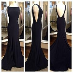 Black Prom Dress Evening Party Gown pst0897