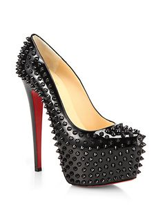 Christian Louboutin - Daffodile Spiked Patent Leather Pumps - Saks.com