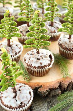 Babeczki z choinkami z paluszków Tortellini, Mini Cupcakes, Cooking, Christmas, Food, Image, Recipes, Instagram, Fotografia