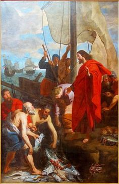 """Father John Bartunek reflects on Jesus as Lord, Teacher and Friend in our lives in John 21:1-14 """"Fishing for Humililty""""; humility, a catch of fish."""