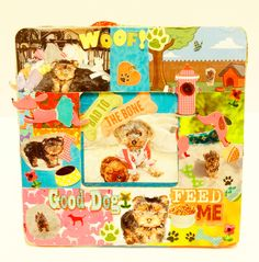 Cute Personalized Dog Picture Frame, 3d photo frames , Gift, Pet Lover Gift,  Dog Lovers, Fun And Colorful , Best Dog, Custom Pet Frame by KaySeeCollection on Etsy https://www.etsy.com/listing/230923958/cute-personalized-dog-picture-frame-3d