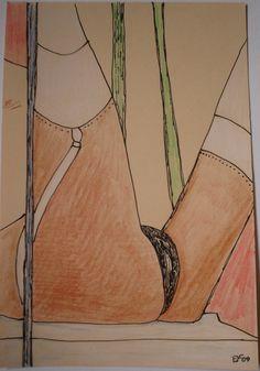 Für die Stockings und Nylons Liebhaber/rinnnen wie ich. Meine eigene Kunst : EROTICA # 51. Verkauft. Zur Zeit meine Kunst auch auf ebay.de unter:  http://www.ebay.de/sch/i.html?_from=R40&_trksid=p2050601.m570.l1313.TR2.TRC1.A0.H0.XEYF-ART.TRS0&_nkw=EYF-ART&_sacat=0