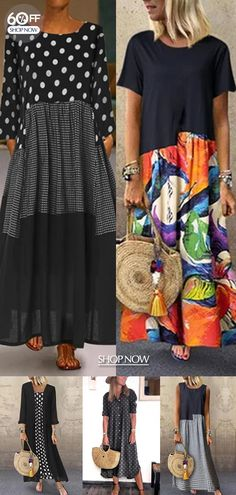 Quirky Fashion, Boho Fashion, Fashion Dresses, Blair Waldorf Outfits, Long Plaid Skirt, Florida Outfits, Church Fashion, Mode Plus, Fashion Prints