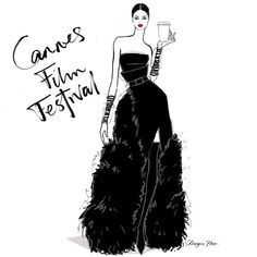😌 I'm NOT in Cannes, but I still need that TRIPLE SHOT Chopard Expresso! · · · · It's Cannes Film Festival! I'll need a triple shot Chopard espresso and popcorn please! Megan Hess Illustration, Illustration Art, Kerrie Hess, Foto E Video, Photo And Video, Fashion Walk, Women's Fashion, Fashion Sketches, Fashion Illustrations