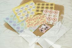 Pretty stickers for your handmade business.  www.2Bling.com.au http://www.2bling.com.au/supporting-diy-projects/Packaging-handmade-business