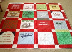 How to make a T-shirt quilt video tutorial
