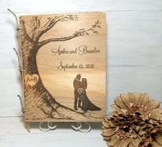 Wedding Guest Book or Words of Wisdom Book Rustic by WildFireFlies