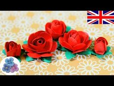 How to make Paper Flowers DIY Paper Roses Valentines Red Roses Mother's Day…