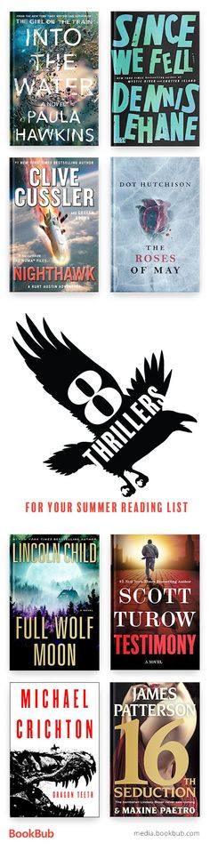 8 thriller books for your summer reading list. Including psychological thrillers, books full of suspense, crime, twists, mystery and more! Including popular bestsellers.