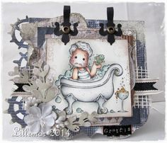Lillemors Magnoliablogg ♥: Mduc #232 blue, brown and white