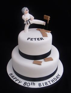 Karate Cake 07917815712 www.fancycakesbylinda.co.uk www.facebook.com/fancycakeslinda