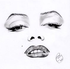Marilyn Monroe Minimal Portrait by *EmilyHitchcock on deviantART || This image first pinned to Marilyn Monroe Art board, here: http://pinterest.com/fairbanksgrafix/marilyn-monroe-art/ || #Art #MarilynMonroe