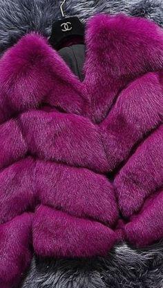 Chanel Magenta, Shades Of Purple, Fur Fashion, Love Fashion, Womens Fashion, Fabulous Furs, Chanel Couture, Pantone Color, My Favorite Color