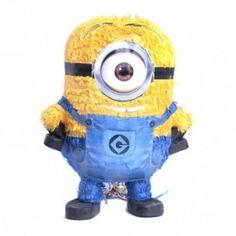 Piñata de apalear de los Minions. Llénala de golosinas y juguetes para disfrutar de la fiesta. #fiesta #minions #cumpleaños www.jardindedetallesyeventos.com