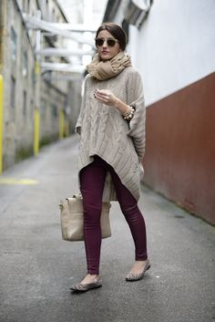 In Love With Fashion sweater, H & M pants, Storets scarf, Lovely Pepa x Krack flats, Su-Shi bag, Ray-Ban sunglasses.