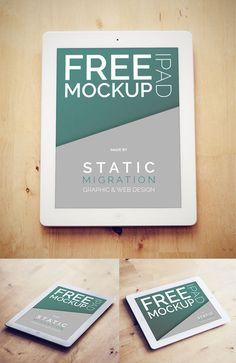 iPad on Wood Surface PSD Mockup #freepsdfiles #freepsdmockups #freemockuptemplates