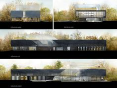 architecture elevations _ Saucier + Perrotte Architects - Saint-Hubert Library