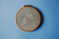 Copyright - Hannah Heys Surface Pattern Design and Illustration - Scandi Graphic Stitch Wall Art - Hand Stitched - available in our shop http://www.oneoffworks.com/new-products/