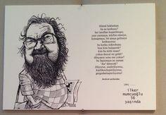 KÜLTÜR-SANAT İNSANLARI PORTRE SERGİSİ - İlker Mumcuoğlu sözleri - Bülent Karaköse - karikatür portre
