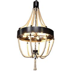 Noir Alec Chandelier Antique Brass