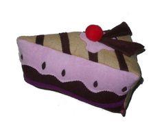 Cuddly Pie Slice Cake Pillow HappY BirthdaY Cake. $35.00, via Etsy.