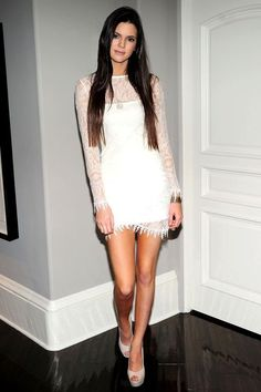 6. Kendall Jenner In Lace Dress 2017 Street Style
